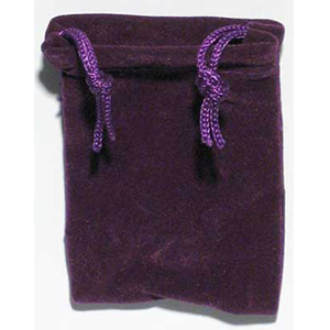 Velveteen 2 x 2 1/2 Purple Bag - Wiccan Place