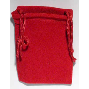 Velveteen 2 x 2 1/2 Red Bag - Wiccan Place
