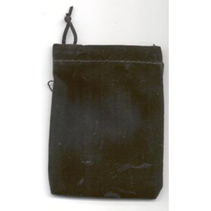 Bag Velveteen 3 x 4 Black Bag - Wiccan Place