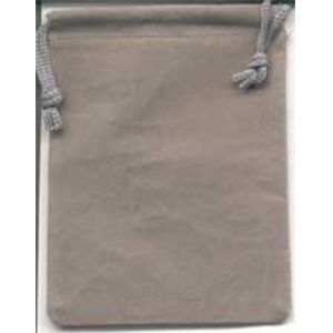 Bag Velveteen 3 x 4 Grey Bag - Wiccan Place
