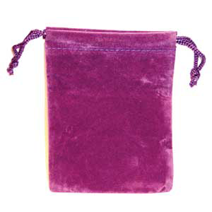 Bag Velveteen: 3 x 4 Purple Bag - Wiccan Place