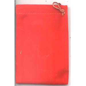 Bag Velveteen 3 x 4 Red Bag - Wiccan Place