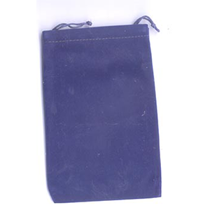 Bag Velveteen 4 x 5 1/2 Blue Bag - Wiccan Place
