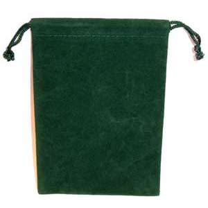Bag Velveteen 4 x 5 1/2 Green Bag - Wiccan Place