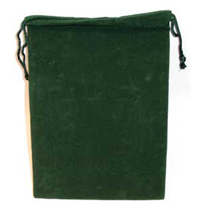 Bag Velveteen 5 x 7 Green Bag - Wiccan Place