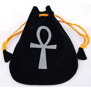 Ankh Velveteen Bag - Wiccan Place