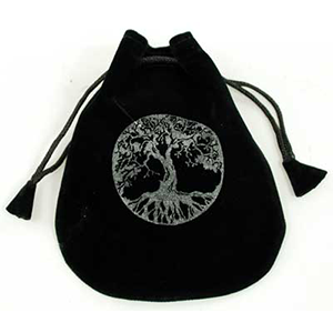 Tree of Life Velveteen Bag - Wiccan Place