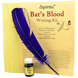 Bat's Blood writing kit - Wiccan Place