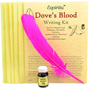 Dove's Blood writing kit - Wiccan Place