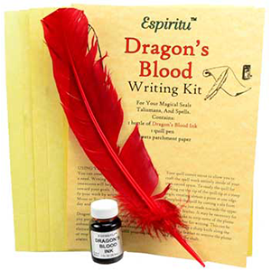 Dragon's Blood writing kit - Wiccan Place