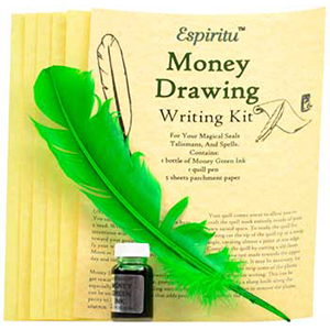 Money Drawing writing kit - Wiccan Place