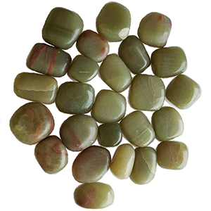 Aragonite, Green tumbled stones 1 lb - Wiccan Place