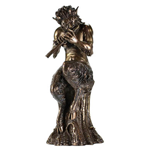 "Satyr Statue 9 1/2"" - Wiccan Place"