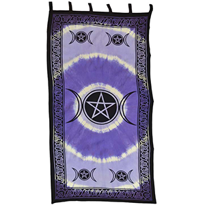 "Triple Moon curtain 44"" x 88"" - Wiccan Place"