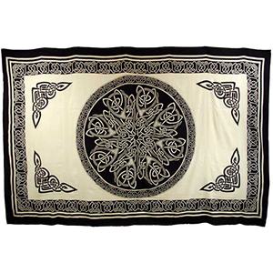 "Ancient Celtic Knot tapestry 72"" x 108"" - Wiccan Place"