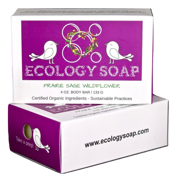Ecology Soap Prairie Sage Wildflower Body Bar