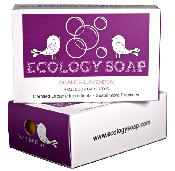 Ecology Soap Orange Lavender Body Bar