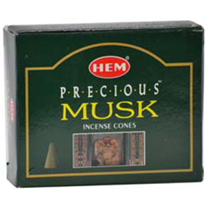 Musk HEM Incense Cones 10 pack - Wiccan Place