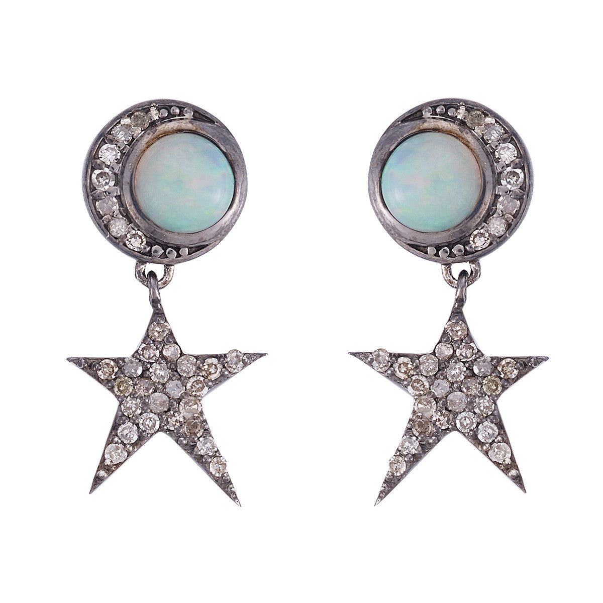 Night Opal Earrings