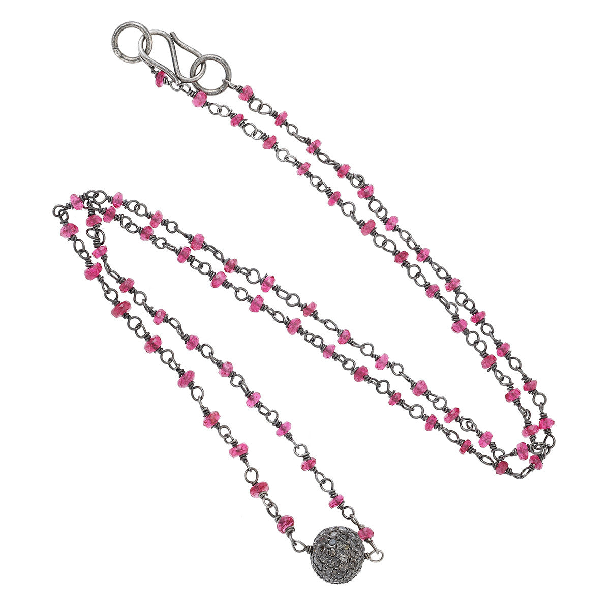 Ruby Necklace and Grey Diamond Ball