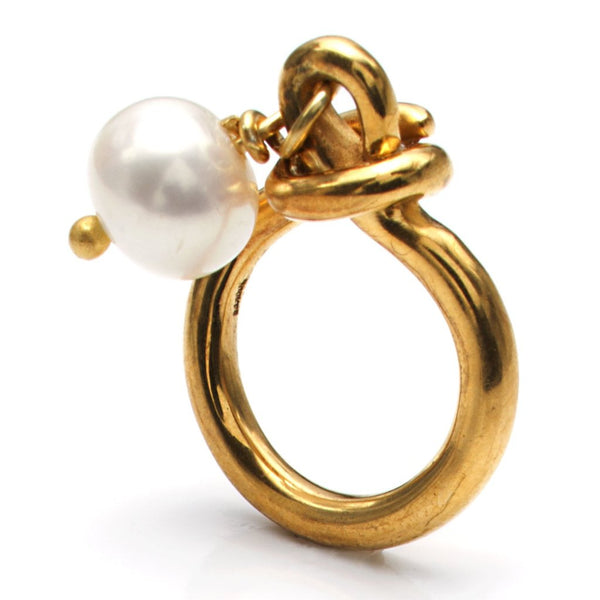 Knot Ring Slv-Yp-Pearl