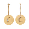 Moon Disc Hoops - S