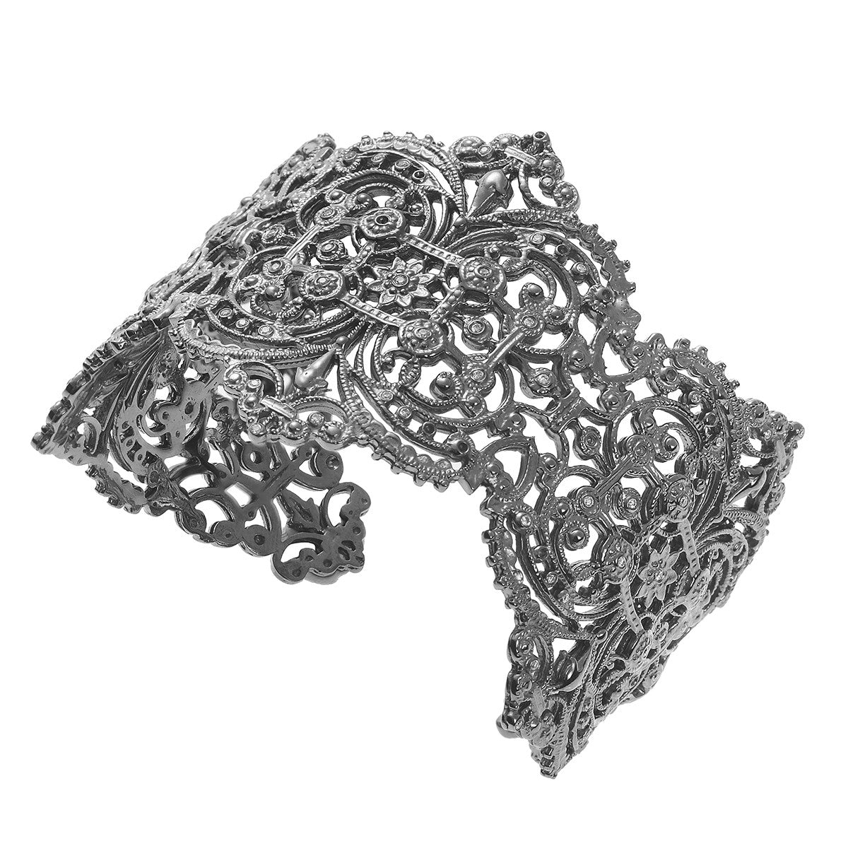 Chantilly Lace Cuff with diamonds