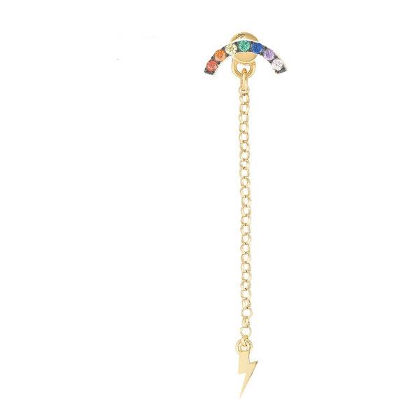 Mini Rainbow and Dangling Thunder Stud