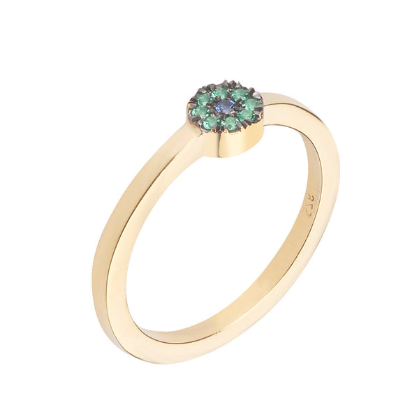 Mini Eye Ring - Green