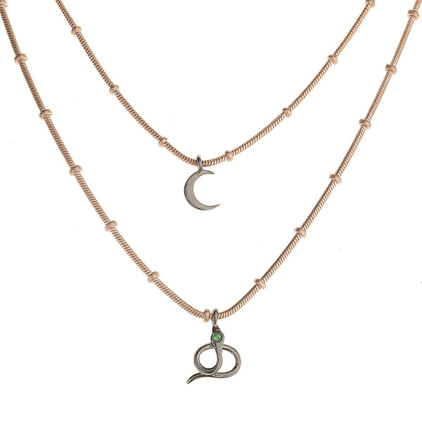 Night Snake Treasure Necklace