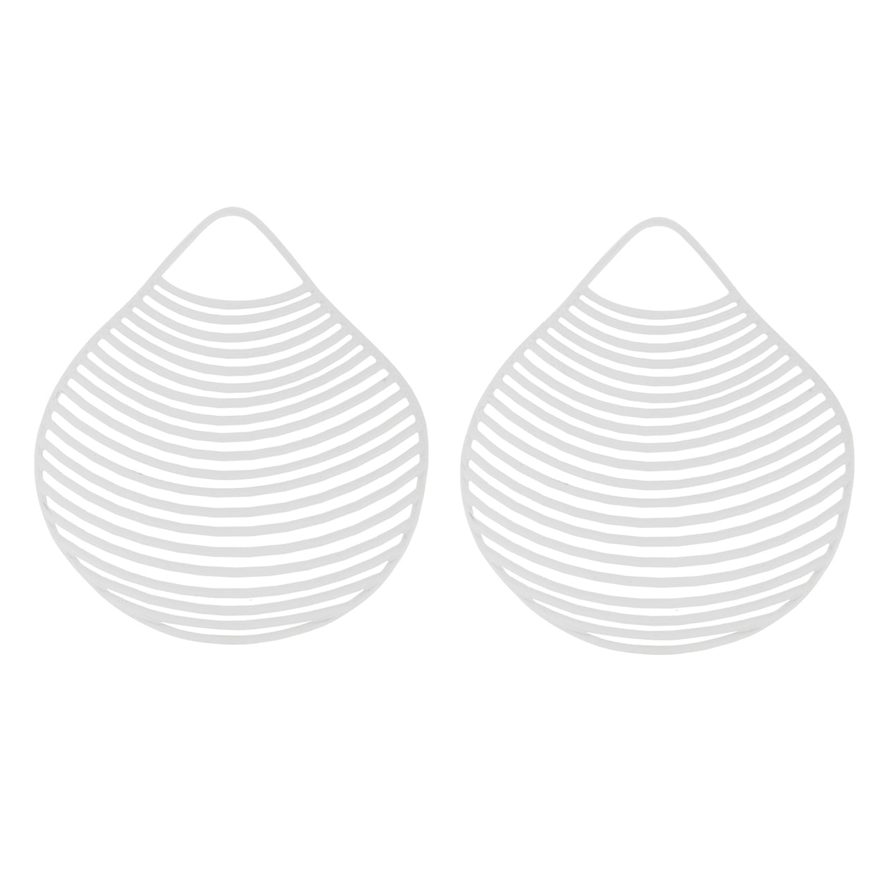 White Clam Seashell Earrings BR-SLV-L