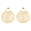 Clam Seashell Earrings BR-SLV-YP-L