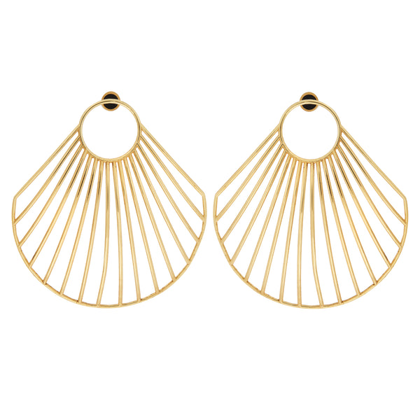 Ark Clam Earrings BR-SLV-YP-L
