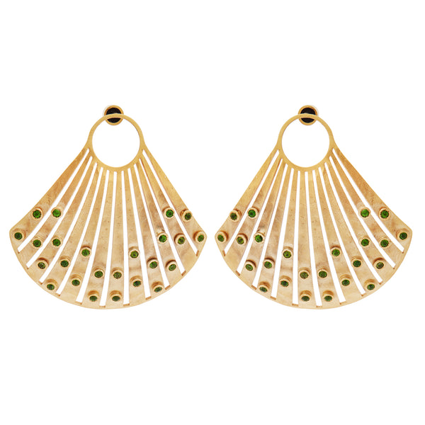 Fancy Scallop Seashell Earrings