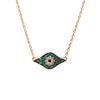 Kitten Eye Necklace - Green