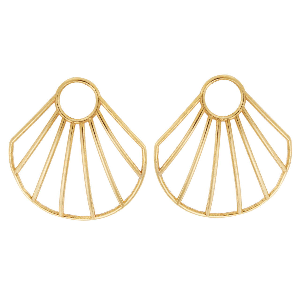 Ark Clam Stud Earrings BR-SLV-YP-S
