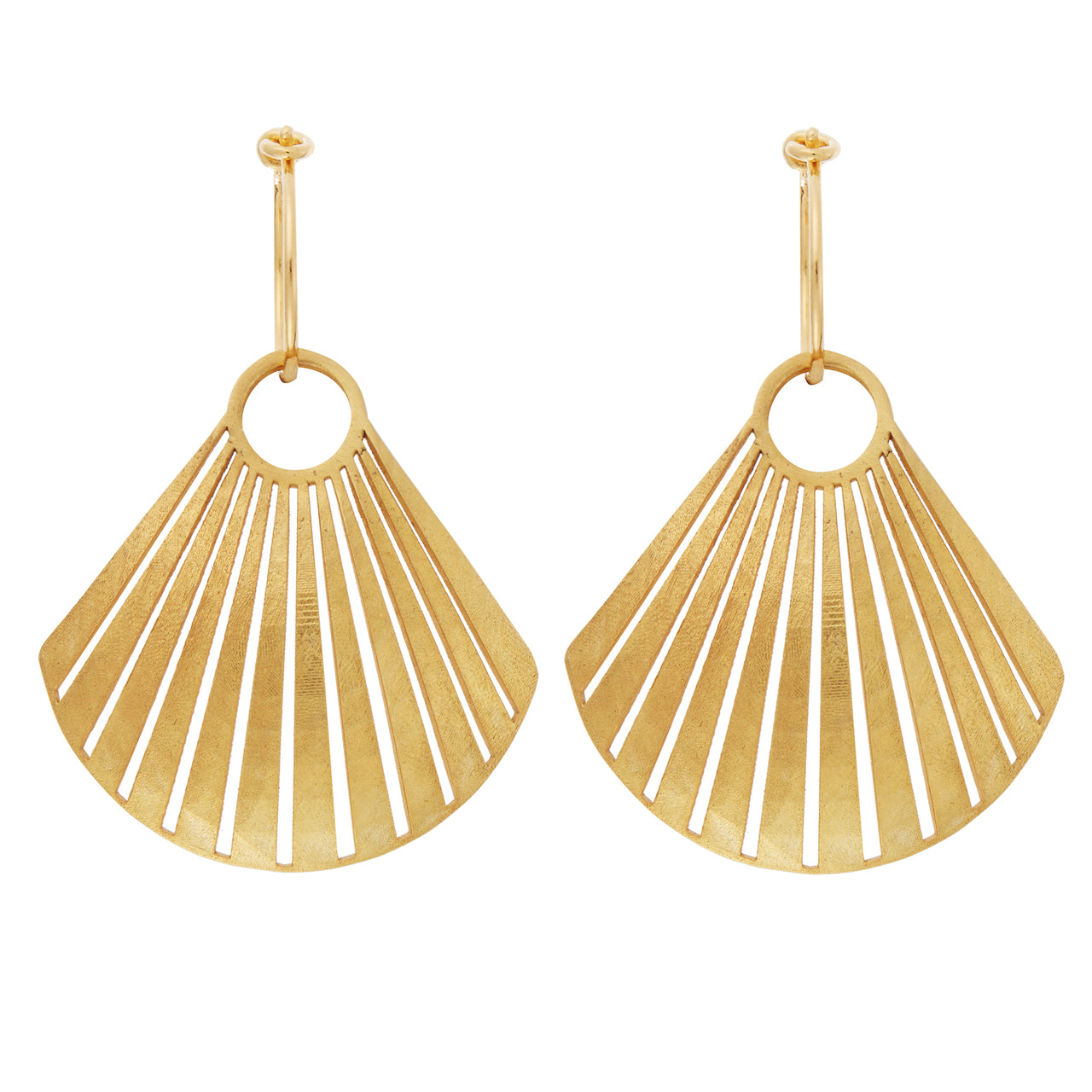Scallop Shell Hoops BR-SLV-YP-S