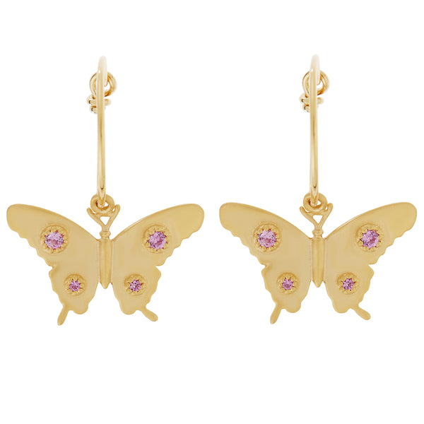 Butterfly Mini Hoops