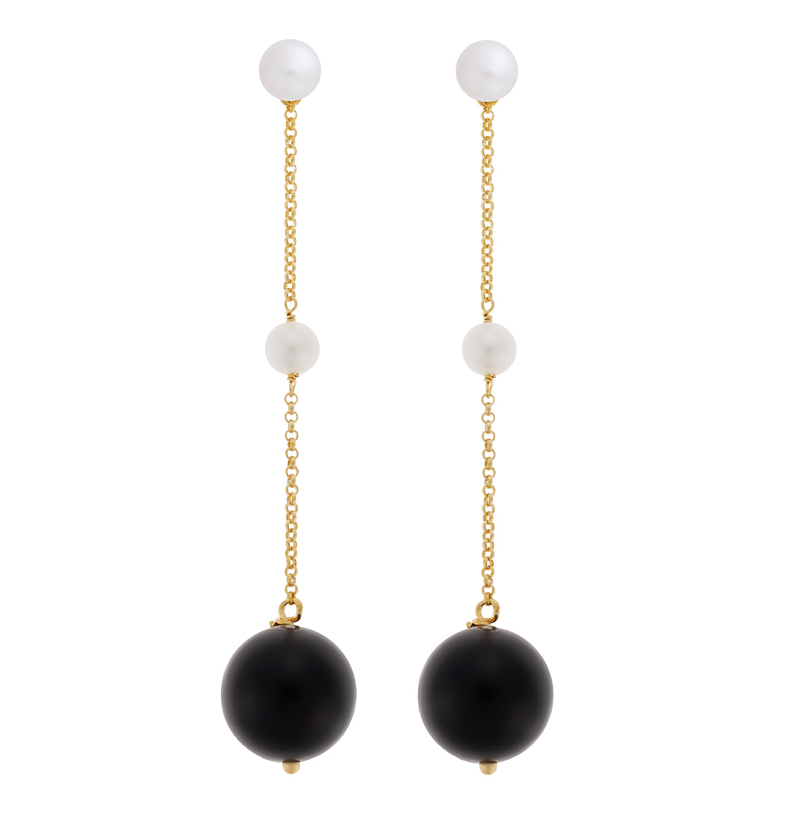 Black Agate Solar Earrings