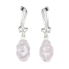 Pink Quartz Earrings Slv-W10-Pq