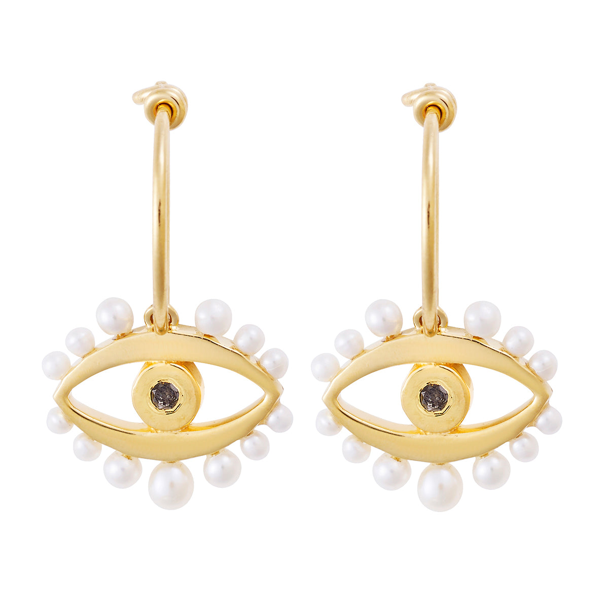 Mermaid's Eye Earrings Slv-Yp-Bd-Pearl