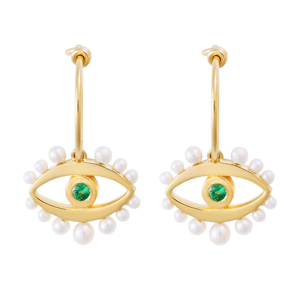Mermaid's Eye Earrings Slv-Yp-Ts-Pearl