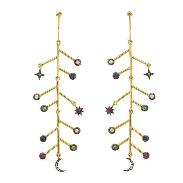 Multicolor Midnight Branch Hoops