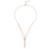 Pearl Space Necklace Slv-Yp-Pearls-Bs