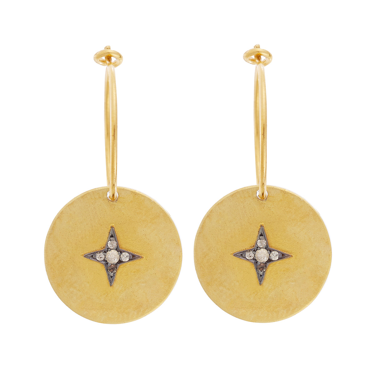 Dangling Star Hoops