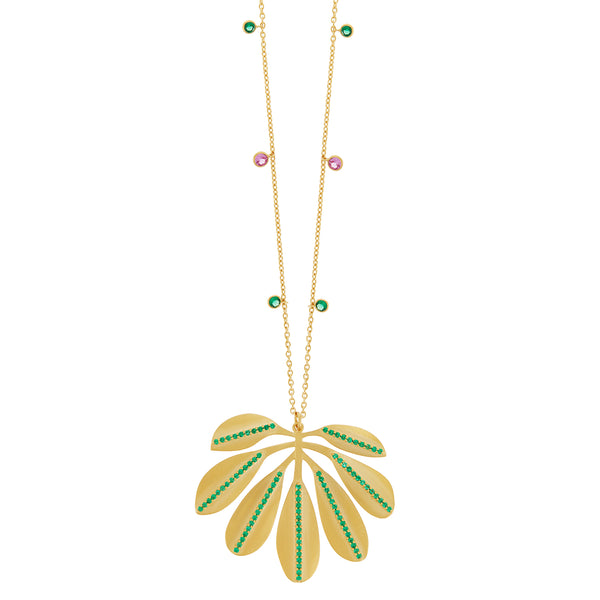 Tropical Jungle Leaf Necklace