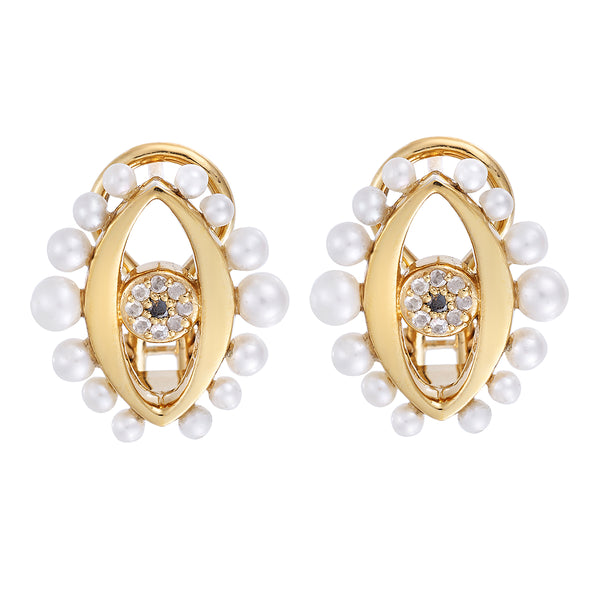 Eye Flow Pearl Earrings
