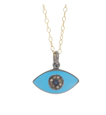 Enamel Kitten Eye Pendant