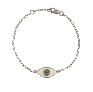 Enamel Kitten Eye Bracelet