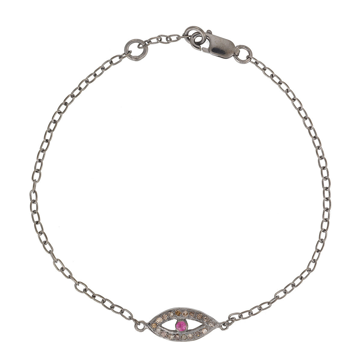 Small Eye Bracelet - Ruby